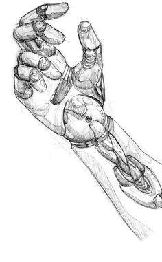 just a sketch for modelling a hand of a robot . a robot hand Robot Humanoïde, Arte Robot, Robot Arm, Robots Robots, Arm Drawing, Drawing Sketches, Drawings, Cowboy Bebop, Robot Sketch