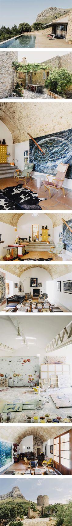 Miquel Barcelo's House and Studio in Mallorca, Spain via Nuji.com