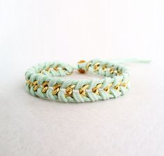 Suede and Chain Woven Arm Candy Bracelet  Chevron by YesMissy, $19.99