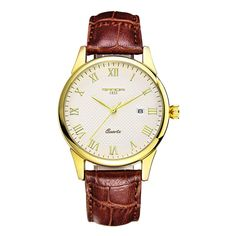 Luxury Waterproof Leather Quartz Watch