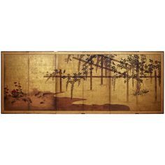 19th c. Six panel Japanese Screen | From a unique collection of antique and modern paintings and screens at http://www.1stdibs.com/asian-art-furniture/paintings-screens/