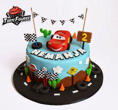 Figurice za torte (cake decorations): Torta i figurice CARS (CARS cake topper)