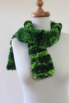 Knitting Scarf  Shades Of Green Spring Fashion St by filofashion, $21.00