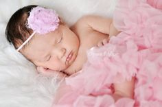 Pink Shabby Chic Chiffon Flower Headband  by SweetheartBoutique