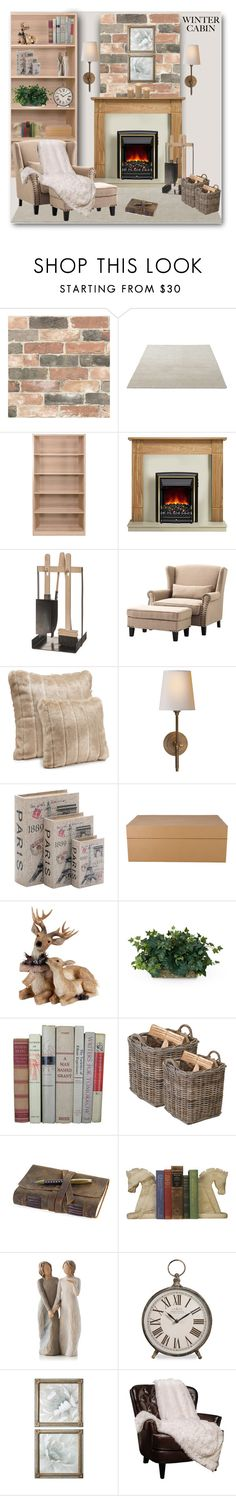 """Cozy Cabin Style"" by bliznec ❤ liked on Polyvore featuring interior, interiors, interior design, home, home decor, interior decorating, Brewster Home Fashions, Iris Hantverk, Home Decorators Collection and Visual Comfort"