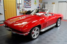 For sale at auction: This Resto-Mod has a mirror-like Rally Red paint, white and red UltraLeather interior and side pipes and covers. Built upon a powder-coated chassis, this car...