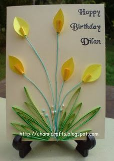 Love this simple, elegant quilled card.  Mother's Day?