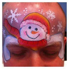Nichola White snowman design. Cute eye hugging snowman!