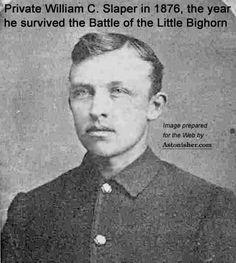 Pvt. William Slaper, Seventh Cavalry survivor of the Battle of the Little Bighorn