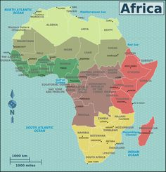 Africa travel guide >>> This will give you an idea which countries in Africa are safe to travel. Check several sources before you decide. It's a beautiful country but safety comes first. Cairo, Tanzania Africa, Uganda, Western Sahara, Country Maps, African Countries, Sea And Ocean, North Africa, Africa Travel