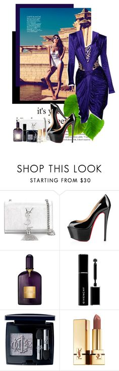 """""""It's time to love again"""" by ionara ❤ liked on Polyvore featuring Magdalena, Versace, Yves Saint Laurent, Christian Louboutin, Tom Ford, Givenchy and Christian Dior"""
