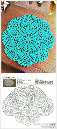 Crochet Doily Diagram, Crochet Doily Patterns, Crochet Chart, Crochet Squares, Thread Crochet, Crochet Motif, Crochet Designs, Crochet Stitches, Blanket Crochet