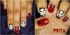 spooky halloween - Nail Art Gallery by NAILS Magazine check out www.MyNailPolishObsession.com for more nail art ideas.