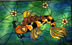This custom designed Fantasy Koi Fish stained glass panel consists of 165 hand cut pieces of glass and features both Spectrum, Bullseye and Kokomo Glass. Stained Glass Designs, Stained Glass Projects, Stained Glass Art, Mosaic Glass, Fused Glass, Delphi Glass, Artist Gallery, Tapestry Weaving, Glass Panels