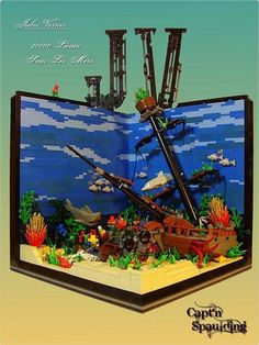 Terrific LEGO creation inspired by Jules Verne.