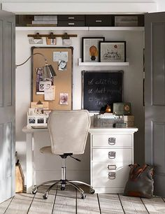 Love the look of this little office.