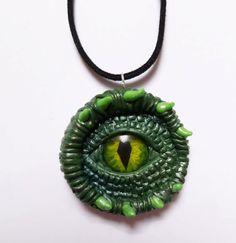 Mystical Green Dragon eye pendant handmade from by AurorasLocket, £16.50