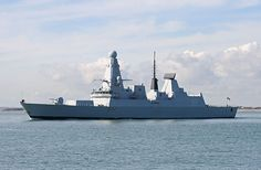 HMS Daring departing Portsmouth Naval Base, 1 March 2010. The Type 45 destroyer, also known as the D or Daring-class, is the first of a class of guided missile destroyers built for the United Kingdom's Royal Navy. The class is primarily designed for anti-aircraft and anti-missile warfare and is built around the Sea Viper air-defence system. HMS Daring was built from parts fabricated at various shipyards and launched on 1 February 2006 and commissioned on 23 July 2009.