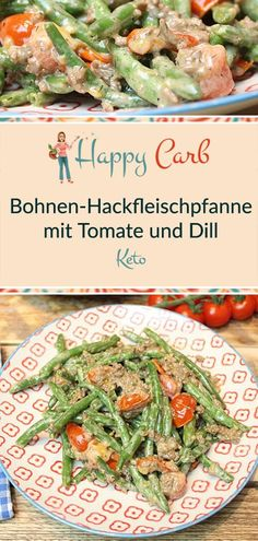 Keto-Bohnen-Hackfleischpfanne mit Tomate und Dill - Happy Carb Rezepte Keto bean minced pan with tom High Protein Low Carb, Low Carb Keto, Low Carb Recipes, Healthy Recipes, Healthy Diet Plans, Eating Habits, Mayonnaise, Feta, Ramen