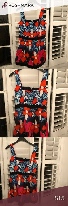 Colorful romper- Peter Pilotto for target Multi color romper with back zip. Very flattering! Peter Pilotto for Target Other