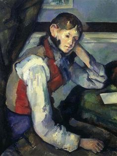 Paul Cezanne: Boy in a Red Waistcoat. c. 1888-1890. Oil on canvas. Foundation E.G. Bührle collection, Zurich, Switzerland.
