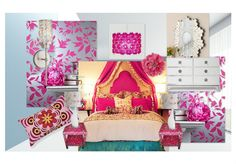 Concept for Girl's Bedroom - Mod Indian Princess