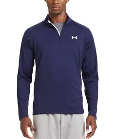 a5d9b78321 Midnight Navy   White Tech™ Quarter-Zip Pullover by Under Armour®  zulily