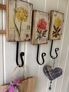 (notitle) - Hang it . Decoupage Vintage, Decoupage Art, Decoupage Ideas, Wood Crafts, Diy And Crafts, Arts And Crafts, Wood Projects, Craft Projects, Shabby Chic Decor