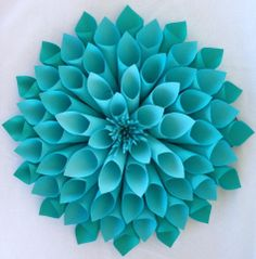 An awesome paper flower that my cousin made, I really want to try it