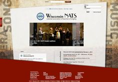 Project: Wisconsin NATS [National Association of Teachers of Singing] website re-design    A complete re-design of the existing website for the organization and an establishment of a branding/identity for the state chapter.