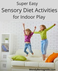 Sensory Diet Activities for Indoor Play - Imperfect Mom Motor Activities, Sensory Activities, Sensory Play, Activities For Kids, Sensory Diet, Sensory Issues, Kids Moves, Sensory Integration, Unique Toys