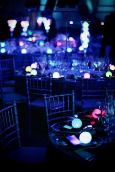 Glow in the dark wedding would be pretty awesome.
