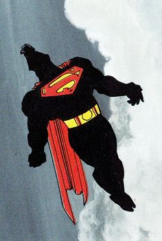Another iconic Superman image from Frank Miller's The Dark Knight Returns.