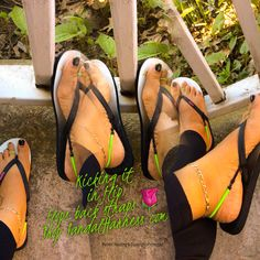 Kick in your flip flops back straps❤️❤️❤️Shop www.SandalHarness.com