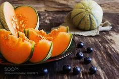 ripe melon slices by maus100  IFTTT 500px old appetizing background blue close-up cut delicious dessert detail diet edible food