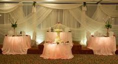 beautiful back drop and table cloth