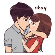Madly About You Aufkleber # 9862237 - Zeichnung Love Cartoon Couple, Anime Love Couple, Couple Dps, Cute Couple Drawings, Cute Couple Art, Cute Love Stories, Cute Love Pictures, Cartoon Pics, Cute Cartoon