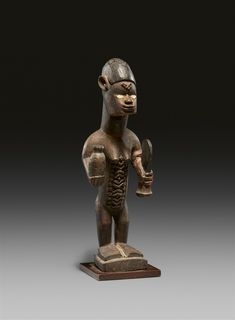 French Colonial, Ocean Art, Republic Of The Congo, Auction, African, Statue, Female, Sculptures, Sculpture