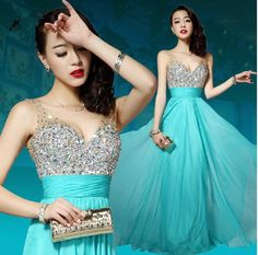 Cheap dress with crystals, Buy Quality champagne prom dress long directly from China prom dresses with crystal Suppliers: 2016 sexy champagne white formal diamond evening gown dress with sequins crystal maxi plus size Prom dresses long 2015 Diamond Prom Dresses, Sequin Evening Dresses, Evening Dresses Plus Size, Cheap Evening Dresses, Prom Party Dresses, Cheap Dresses, Evening Gowns, Evening Party, Girls Dresses