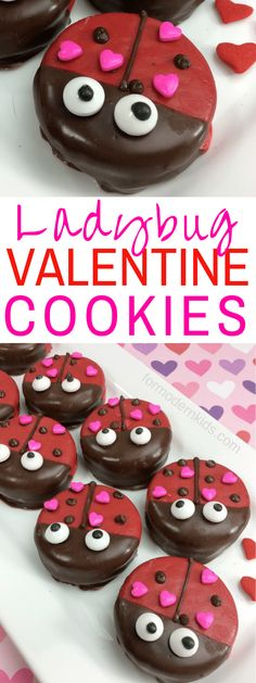 Valentine's Day Ladybug Oreo Treats for Kids If you're looking for Valentine's Day recipes for kids, this fun ladybug Valentine's day treat is the perfect snack! It's fun and will be a hit at the next school party! Valentines Day Food, Valentines Baking, Valentine Day Cupcakes, Valentines Day Desserts, Valentine Treats, Valentines For Kids, Holiday Treats, Holiday Recipes, Easter Recipes