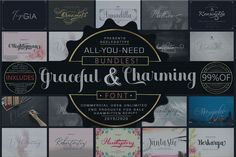 ALL-YOU-NEED BUNDLE! 99 OFF! Graceful & Charming Handwritten Logo, Script Logo, Geometric Font, Character Map, Bold Fonts, Illustrator Cs, Beautiful Fonts, Premium Fonts, Creative Industries