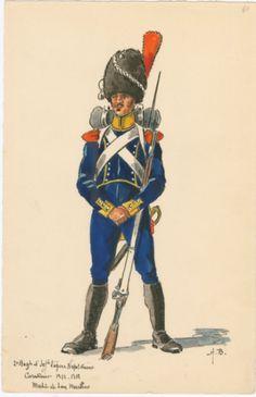 SOLDIERS- Boisselier: 2e Regt. d'Infie. legère Napolitaine; Carabinier, 1812-1813 , by H. Boisselier.