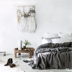 The waves whisper - Laine Toia Bespoke Weaving. Styling/Photography: Indie Home Collective