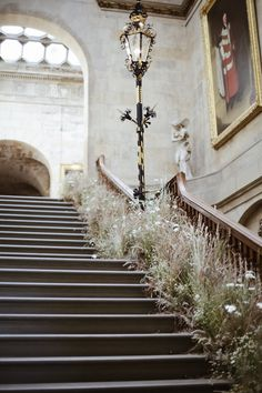 Staircase for Castle Howard Flower Festival created from grasses growing on the Estate - image Hannah Straughan Real Flowers, Summer Flowers, Pink Flowers, Beautiful Flowers, Wedding Ceremony, Wedding Venues, Reception, Wedding Staircase, Floral Wedding