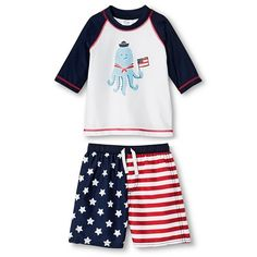 Just One You™ Made by Carter's® Toddler Boys' Octopus Rash Guard and Matching Swim Trunks