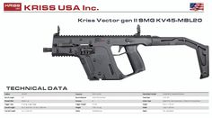 Kriss Vector, Vector 45, Future Weapons, Submachine Gun, Weapon Concept Art, Fire Powers, Assault Rifle, Military Weapons, Guns And Ammo