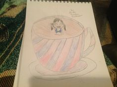Chibi girl swimming in coffee, requested by @Hiddlestoner013 sorry it's pretty bad