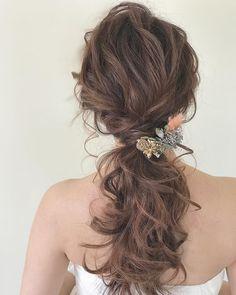 新娘 Hairdo Wedding, Boho Wedding Hair, Wedding Hair Pieces, Asian Bridal Makeup, Wedding Hair And Makeup, Hair Makeup, Japan Hairstyle, Hair Color Balayage, Bride Hairstyles