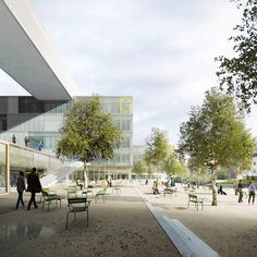 University building for Faculty of Biology, Geography and Geology,... - urban petranovic architectural visualisations