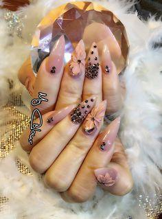Elegant Nails, Classy Nails, Unicorn Nails Designs, Posh Nails, Asian Nails, Gel Nail Art Designs, Design Salon, Glittery Nails, Bride Nails